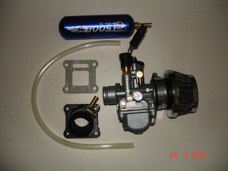 minimoto 19mm carburettor and boost kit